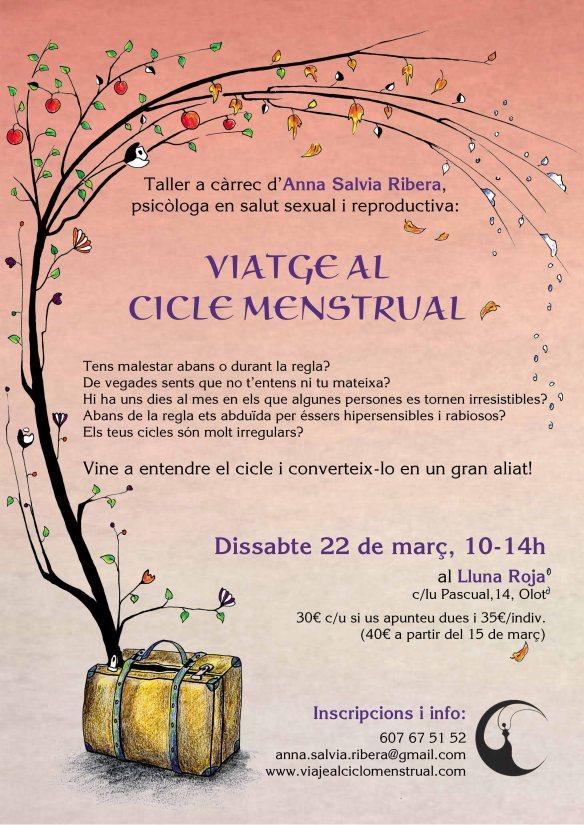 Taller Viatge al cicle menstrual Lluna Roja 2014